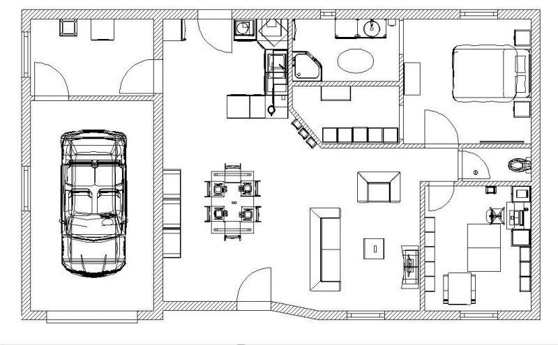 Souvent Idee plan maison - L'impression 3D XF09