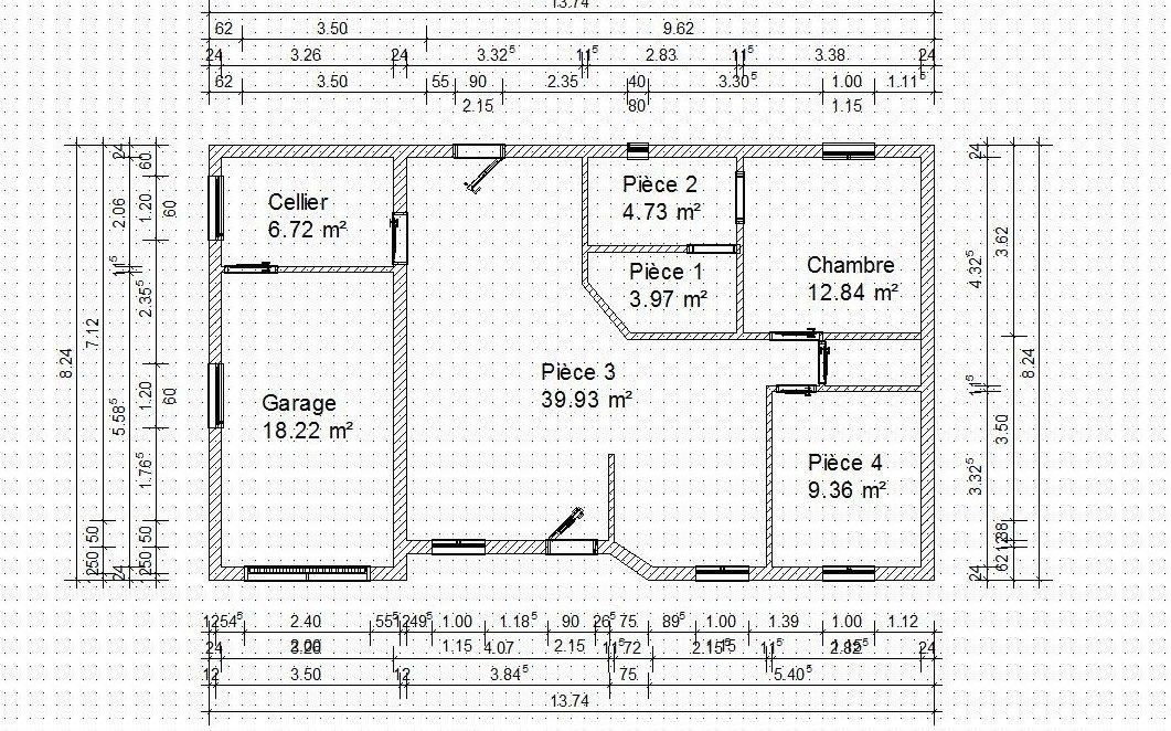 Mai 2008 4 murs et 1 toit l 39 aventure de ma construction for Plan simple de maison